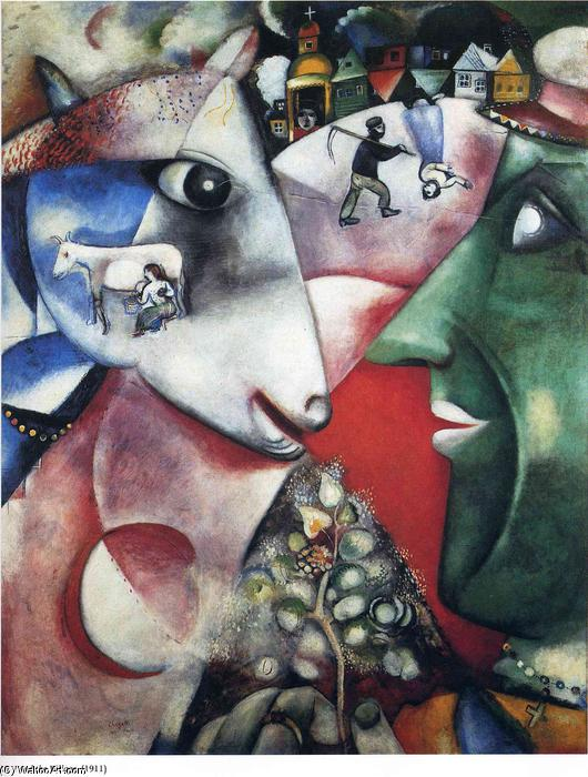 | moi et le village de Marc Chagall | Most-Famous-Paintings.com
