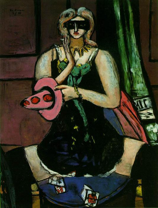famous painting Colombine of Max Beckmann