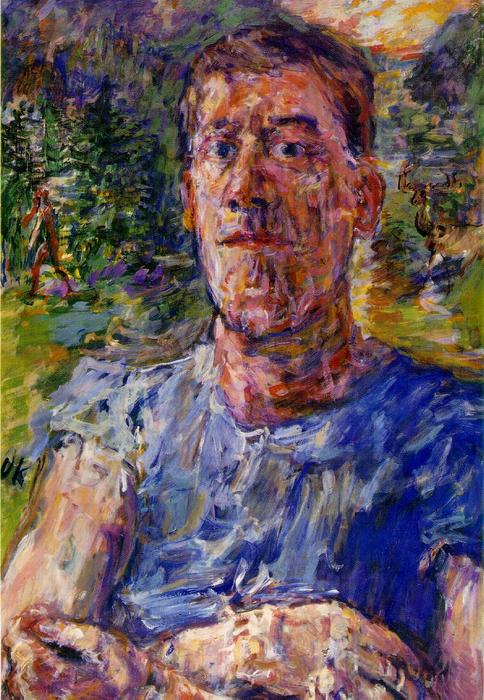 | Self-portrait d'un 'Degenerate Artist' de Oskar Kokoschka | Most-Famous-Paintings.com