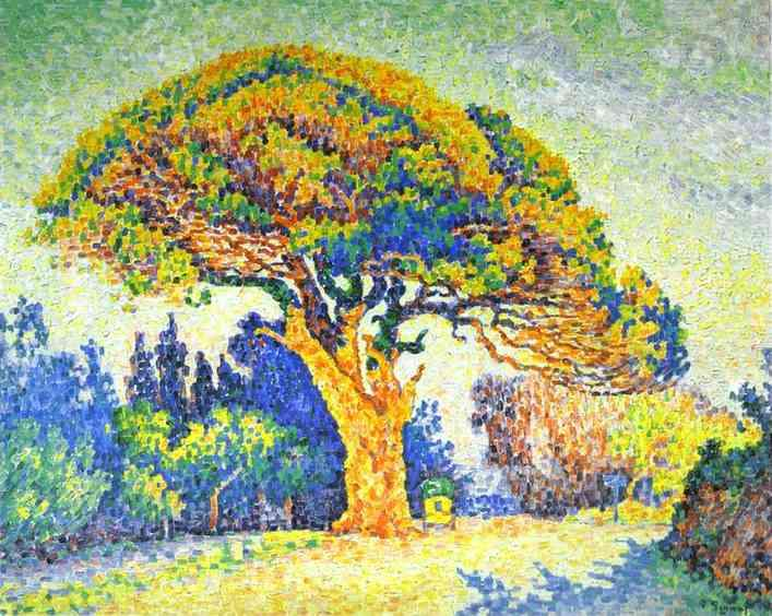 Achat Reproductions De Peintures | le pin à st . Tropez de Paul Signac | Most-Famous-Paintings.com