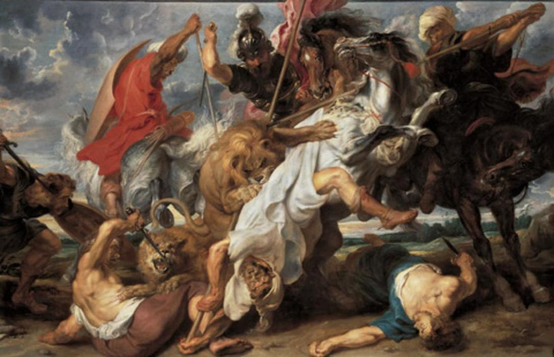 Achat Reproductions De Qualité Musée | La Chasse au lion de Peter Paul Rubens | Most-Famous-Paintings.com