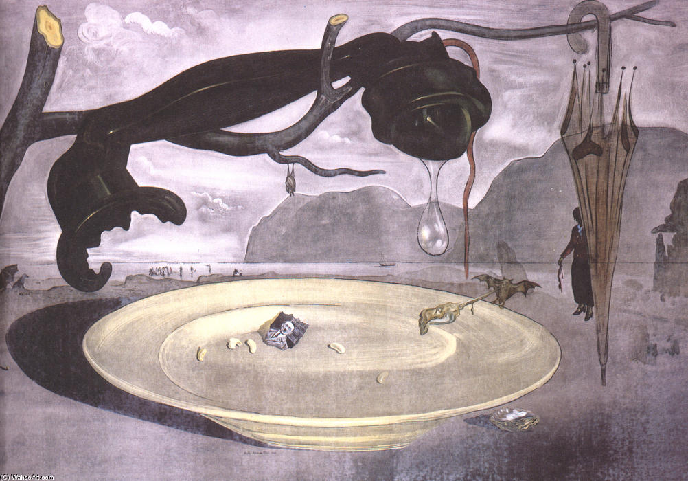 famous painting l'énigme d'hitler of Salvador Dali