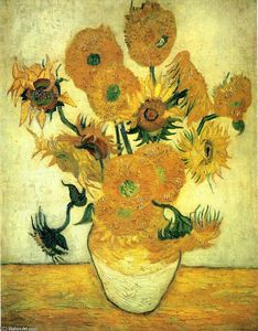 Vincent Van Gogh - Nature Morte pot à quatorze Tournesols