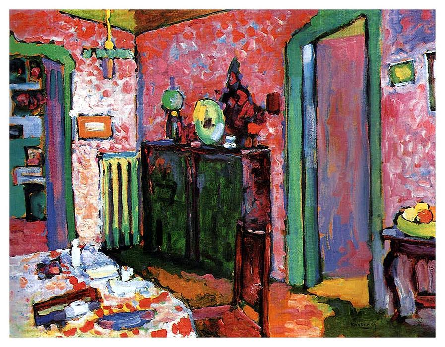 famous painting Intérieur ( Ma salle à manger ) of Wassily Kandinsky