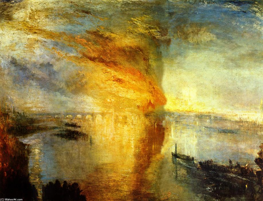 Achat Reproductions De Peintures | l'incendie des chambres du parlement de William Turner | Most-Famous-Paintings.com