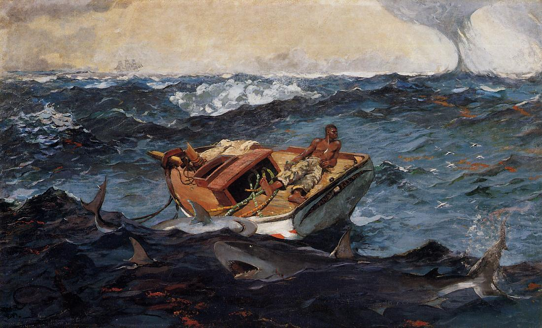 Achat Reproductions D'œuvres D'art | le gulf stream de Winslow Homer | Most-Famous-Paintings.com