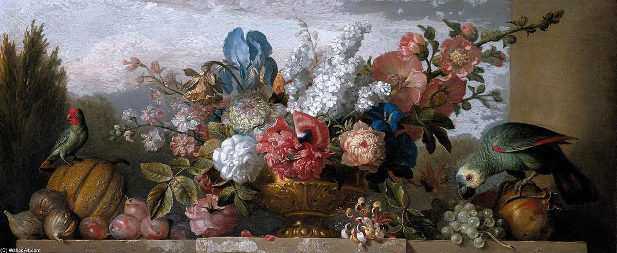 famous painting nature morte de  Fleurs  of Jakob Bogdany