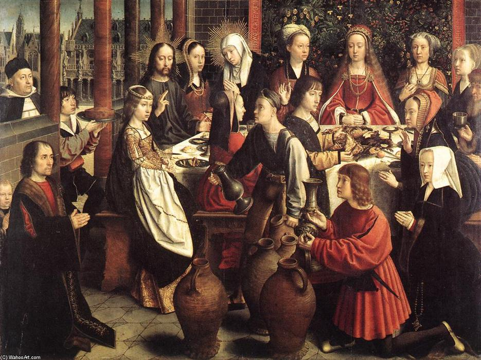 famous painting Les Noces de Cana of Gerard David