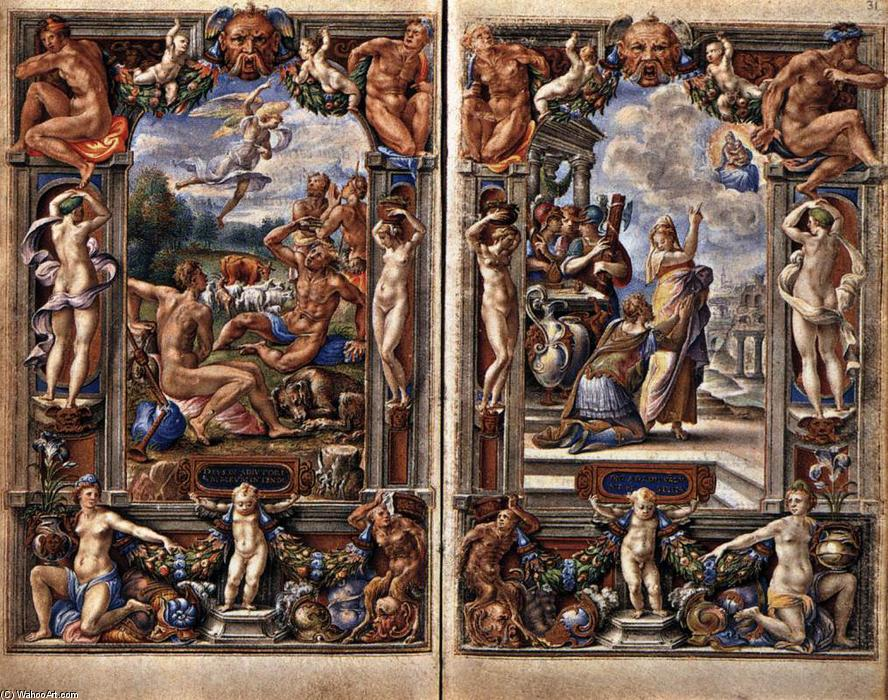 famous painting Pages des Heures Farnese of Giulio Clovio