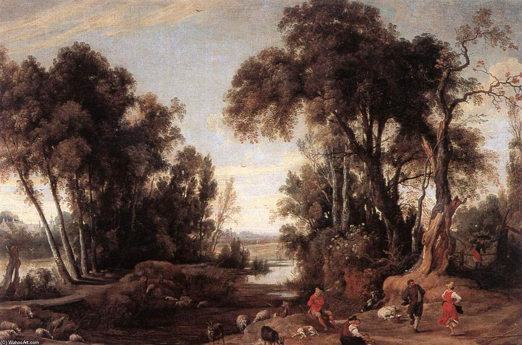 famous painting Paysage avec Bergers of Jan Wildens