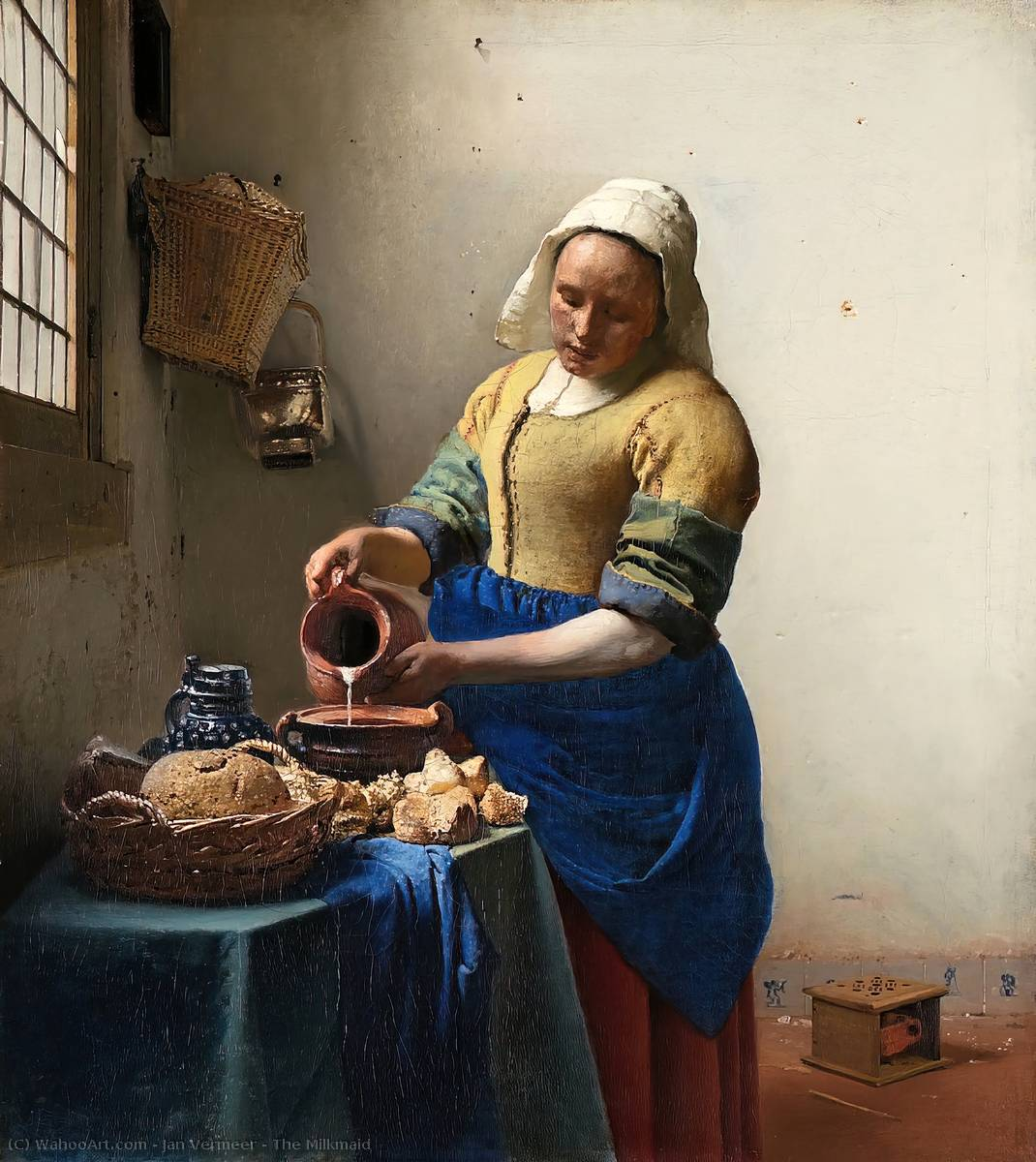 Achat Reproductions D'œuvres D'art | La Laitière de Jan Vermeer | Most-Famous-Paintings.com