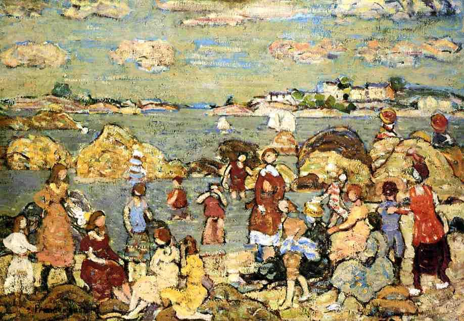 famous painting Le Seashore of Maurice Brazil Prendergast