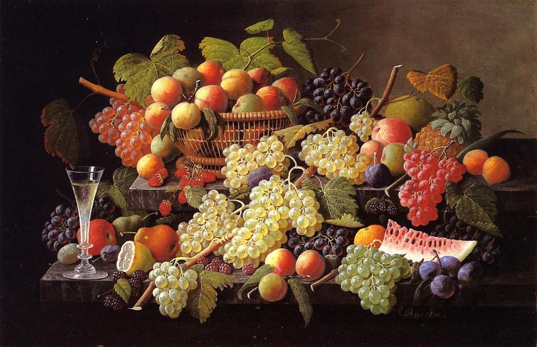 famous painting Nature morte avec fruits 17   of Severin Roesen