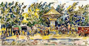 Paul Signac - Festival Village (La Vogue)