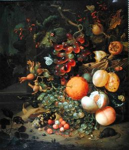 Jan Mortel - Nature morte avec des fruits