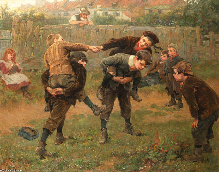 famous painting Le tournoi of Ralph Hedley