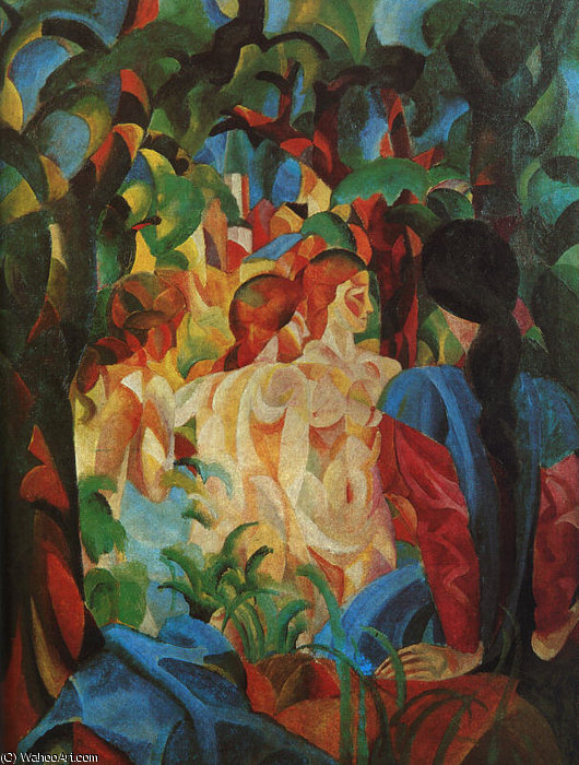 famous painting Untitled (5377) of August Macke