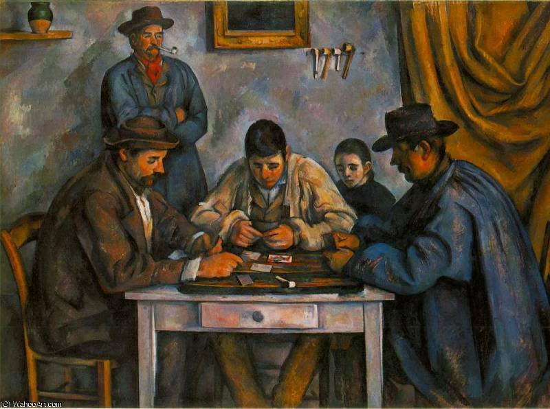 famous painting Les joueurs de cartes of Paul Cezanne