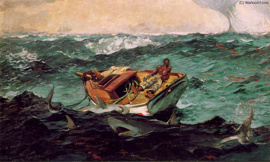 famous painting Le Gulf Stream, Metropolitan Mus of Winslow Homer