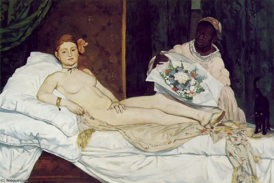 Achat Reproductions D'œuvres D'art | Olympie , Musée d'Orsay , Paris de Edouard Manet | Most-Famous-Paintings.com