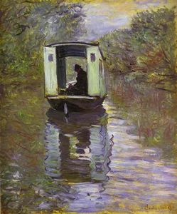 Claude Monet - The Studio Boat (Le bateau-atelier)