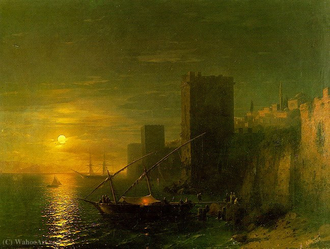 famous painting Untitled (407) of Ivan Konstantinovich Aivazovsky