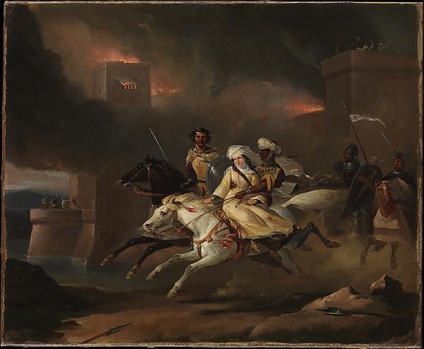 Ca s'est passé en août ! Leon-Cogniet-The-Abduction-of-Rebecca-by-a-Knight-Templar