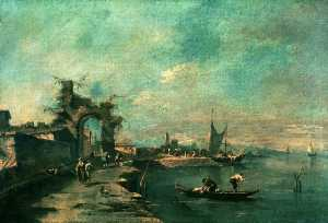 Francesco Lazzaro Guardi - Scène Coast